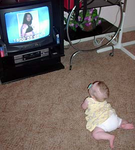 Grace watching TV