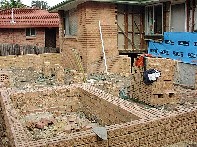 Renovations - footings and brickwork